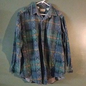LL. BEAN button up medium weight flannel